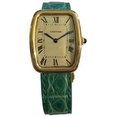 Cartier Tonneau Tortue Gelb Gold 18 Karat oder Jaune