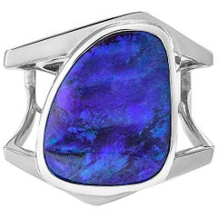 Giulians Contemporary 18k 19.26ct Australian Boulder Opal Cocktail Ring
