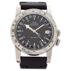 Vintage Glycine Airman Stainless Steel Pilot Watch, 1960s