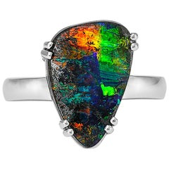 Giulians Contemporary 18k 4.80ct Australian Boulder Opal Ring
