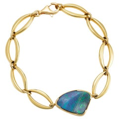 Giulians Contemporary 18k 7.90ct Australian Boulder Opal Bracelet