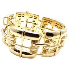 Tiffany & Co. Wide Link Yellow Gold Bracelet