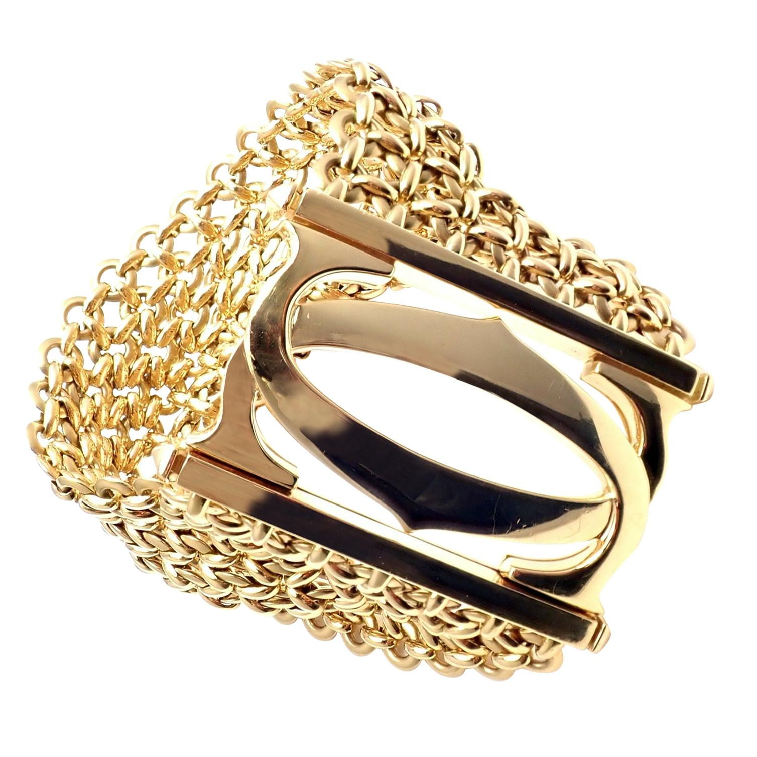 Cartier Penelope Double C Seven-Row Link Yellow Gold Bracelet