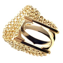 Cartier Penelope Double C Seven-Row Link Yellow Gold Bracelet