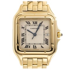 Cartier 1060 Panthere 18 Karat Yellow Gold Panther 1060-2 18 Karat Quartz Watch