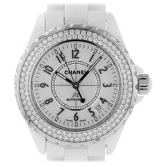 Chanel H0969 J12 White Ceramic Diamond Bezel Swiss Automatic Movement Watch