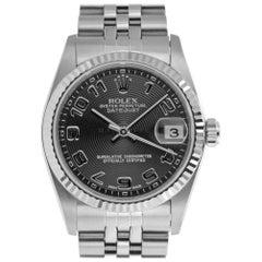 Rolex 78274 D Datejust MidSize Fluted Bezel Jubilee Bracelet Steel & White GOLD