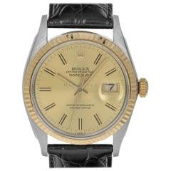 Rolex 16013 8.5 Million Datejust Steel & 18kt Yellow Gold Champange Swiss Watch