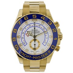 Rolex Yacht-Master II 18 Karat Yellow Gold Watch Oyster Bracelet Watch 116688