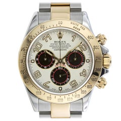 Rolex 116523 F Cosmograph Daytona Panda Arabic Racing Dial Steel and Yellow Gold