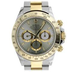 Rolex 16523 U Slate Daytona Steel 18kt Yellow Gold Swiss Automatic Chronograph
