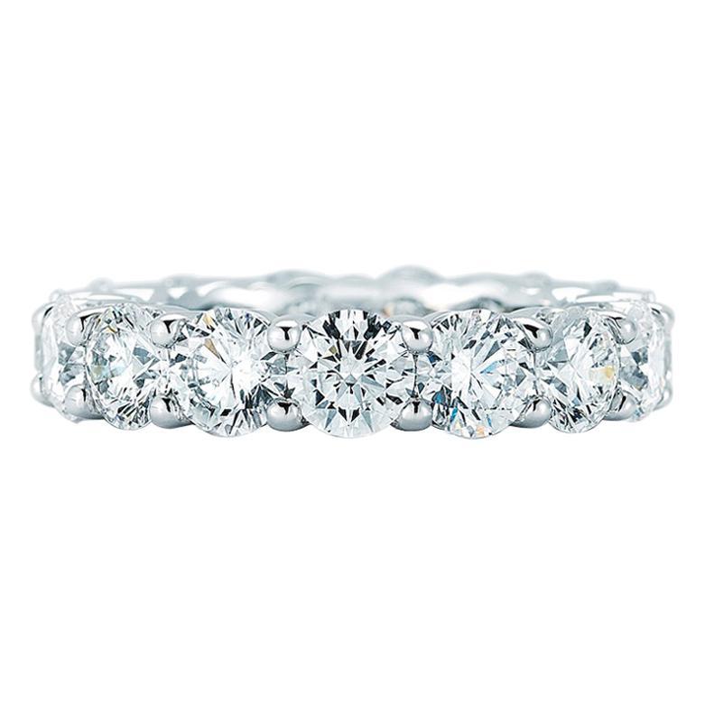 Platinum Round Cut Diamond Eternity Band 7.00 Carat