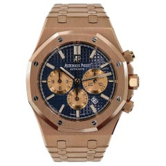 Audemars Piguet Chronograph Rose Gold Blue Dial Watch 26331OR.OO.1220OR.01