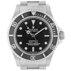 Rolex 14060 V Sub No Date 14060M 4 Line Submariner Steel Swiss Automatic Diver