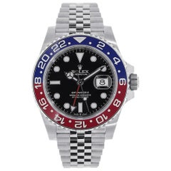 Rolex GMT-Master II Stainless Steel Red and Blue Pepsi Bezel Watch 126710