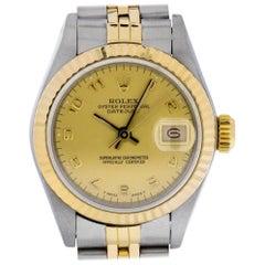 Rolex 69173 R Datejust Champagne Arabic Dial Steel & 18KT Yellow GOLD Swiss