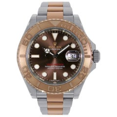 Rolex Yacht-Master Steel and Everose Gold Chocolate Dial Watch 116621