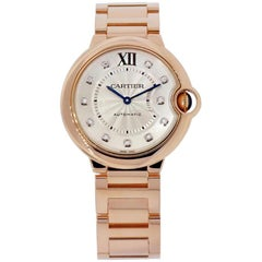 Cartier Ballon Bleu 18 Karat Rose Gold Diamond Dial Watch WE902026