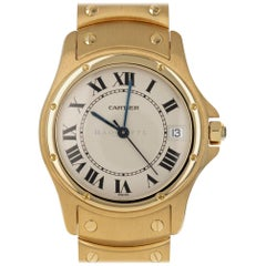 Cartier 1900 Santos Ronde 18 Karat Yellow Gold Swiss Automatic Watch