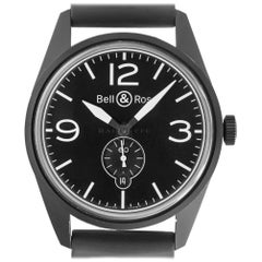Ball & Ross BR123 PVD Vintage Black Dial Automatic Movement Steel Box and Papers