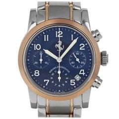 Girard Perregaux 8020 GP Ferrari Dark Blue Arabic Chronograph Rose Gold & Steel