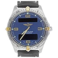 Breitling F56062 Aerospace Blue Dial Titanium & 18kt Gold Quartz Multi-Function