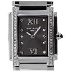 Patek 4910 Twenty-4 Grey Diamond Dial 4910/10A-010 Quartz Ladies Watch