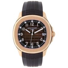 Patek Philippe Aquanaut Rose Gold Chocolate Rubber Strap 5167R-001