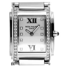 Patek Philippe 4910/10A-011 Steel Twenty-4 Diamond 24 4910 Quartz Ladies Watch
