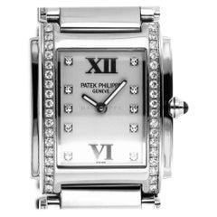 Patek Philippe 4910/10A-011 Steel Twenty-4 Diamond 24 4910 Quartz Ladies Watch