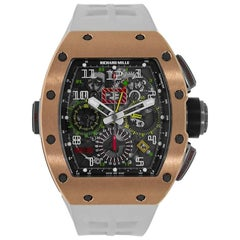 Richard Mille RM 11-02 GMT Rose Gold Titanium Rubber Automatic Watch
