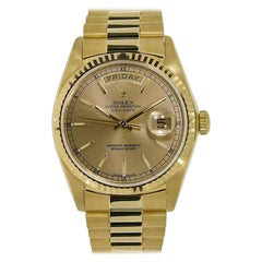 Rolex Day-Date Yellow Gold Champagne Dial Watch 18238