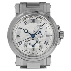 Breguet 5857ST12SZO Marine II Dual Time GMT 5857 Box and Papers Swiss Automatic