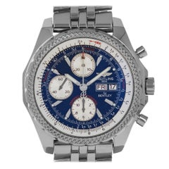 Breitling A13362 Bentley GT Blue Stick Dial Steel Swiss Automatic Chronograph
