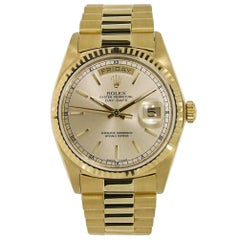 Rolex Day-Date Yellow Gold Champagne Dial Watch 18038