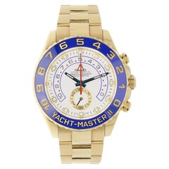 Rolex Yacht-Master II 18 Karat Yellow Gold Watch White Dial 116688