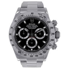 Rolex Daytona Stainless Steel Black Dial Watch 116520