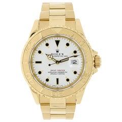 Rolex Yacht-Master 18 Karat Yellow Gold White Dial Watch 16628