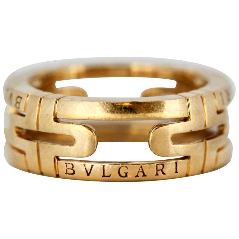 01717d232b2ac Bvlgari 18 Karat Gold Ring, Italy, circa 1990s For Sale at 1stdibs