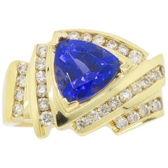 Tanzanite and Diamond Cocktail Ring in 18 Karat Gold