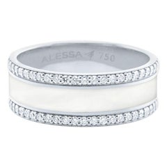 18 Karat Gold and 0.53 Carat White Diamonds Border Pave Spectrum Ring by Alessa