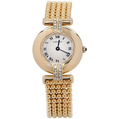 Cartier Colisee Watch with Diamonds 18 Karat Yellow Gold