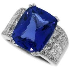 Tanzanite Ring with Diamonds Platinum