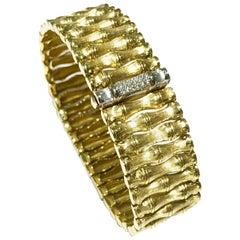 Roberto Coin Bamboo Bracelet in 18 Karat Yellow Gold