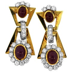Bvlgari Ruby Diamond Yellow Gold Earrings