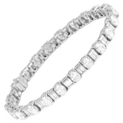 DiamondTown 12.02 Carat Diamond Tennis Bracelet in 18 Karat White Gold