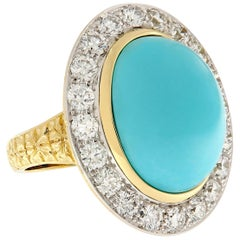 Vergano Turquoise Diamond Statement Ring