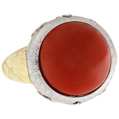 Vergano Coral Diamond Statement Ring