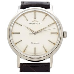 Vintage Movado Kingmatic Sub-Sea Stainless Steel Watch, 1960s