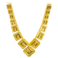 Greek Key Yellow Gold 18 Karat Necklace 166.50 Grams